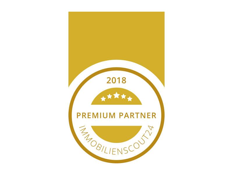 Auszeichnung ImmobilienScout24 Premium Partner 2018