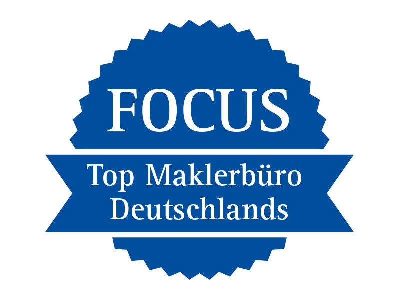 Auszeichnung Focus Topp Maklerbüro Deutschlands