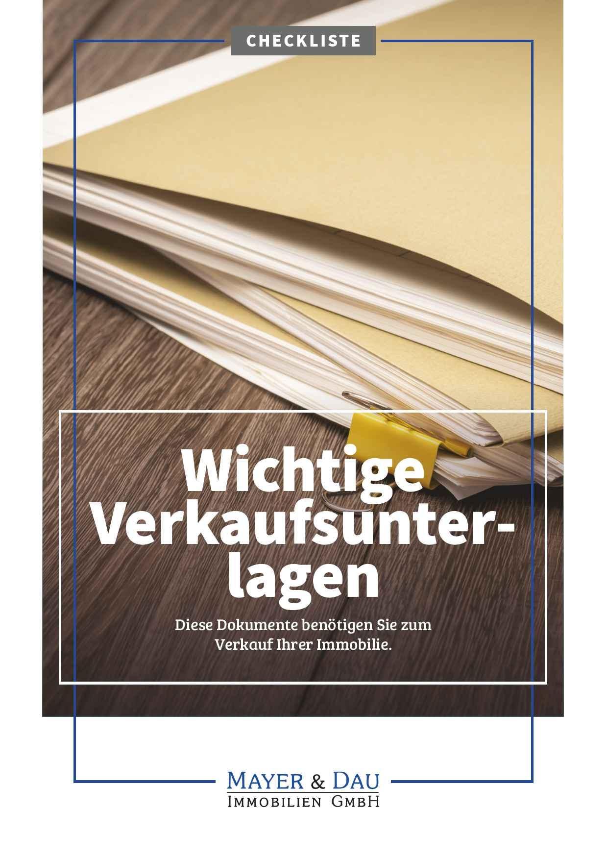 Mayer_und_Dau_Wichtige_Unterlagen_für_den_Verkauf_der_Immobilie_Cover